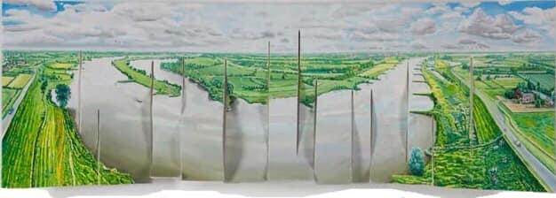 Landschap in beweging en reflecties – Walter Simon