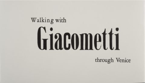 "Kunstenaarsboek ""Walking with Giacometti through Venice"" /cover"