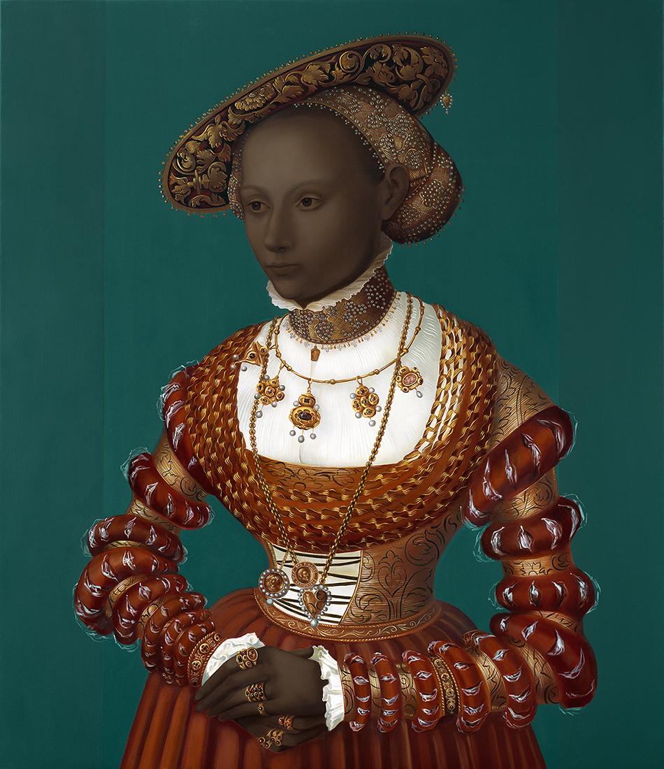 Portrait of a woman, after Cranach