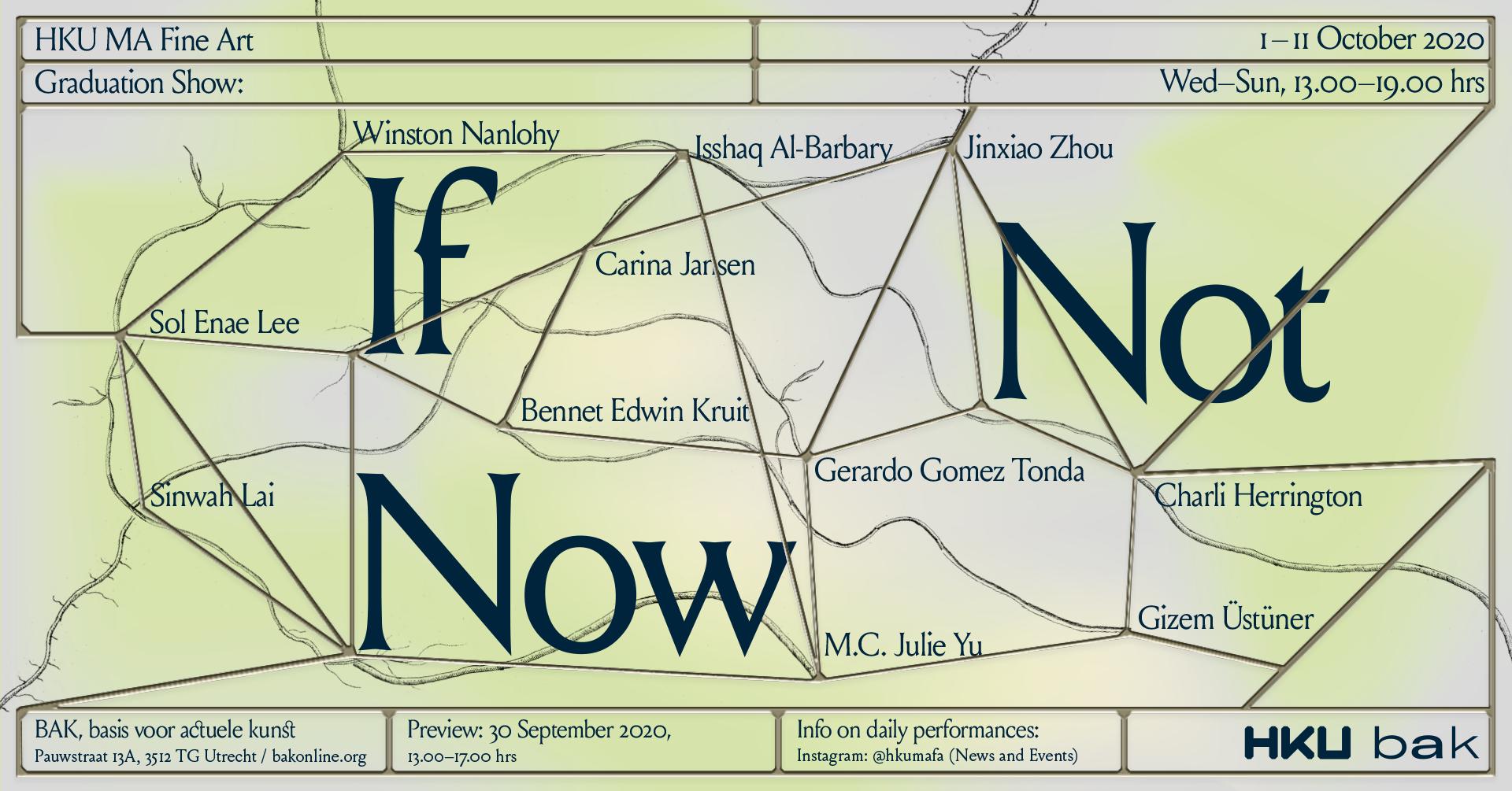 If Not Now: De afstudeertentoonstelling van de HKU master Fine Art